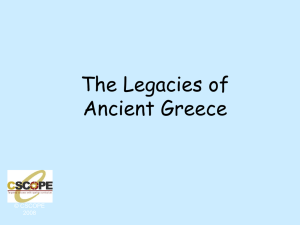 The Legacies of Ancient Greece - G-PISD