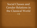 Social Classes and Gender Relations in the Classical World
