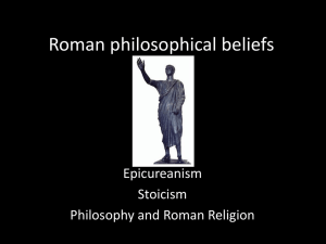 Roman philosophical beliefs