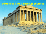 Democracy & the Golden Age of Greece