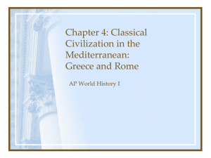 Chapter 4: Classical Civilization in the Mediterranean