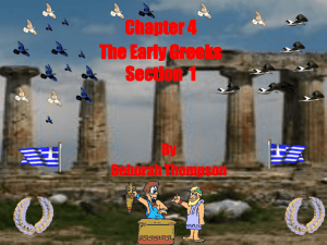 Chapter 4 Section 1 The Early Greeks