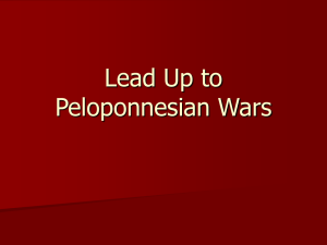 Lead Up to peloponnesian wars