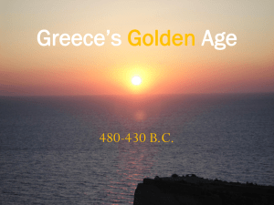 Greece`s Golden Age