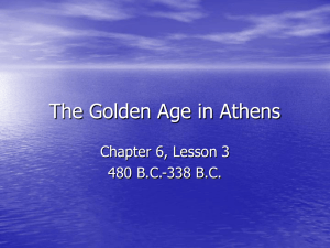 The Golden Age in Athens