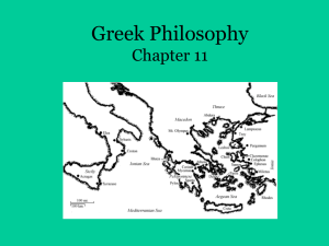 Greek Philosophy Ppt