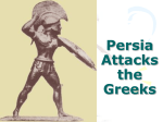Persia Attacks the Greeks