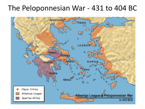 The Peloponnesian War 431 to 404 BC