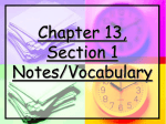 Chapter 13, Section 1 Notes/Vocabulary