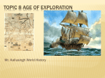 Topic 8 age of exploration