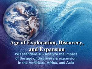 Age of Exploration, Discovery, and Expansion