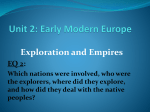 Unit 2: Early Modern Europe
