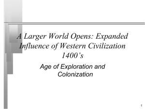 Expanded Influence of Western Civilization 1400-