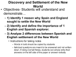 I. Discovery and Settlement of the New World