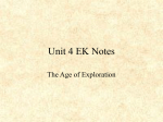 Age of Exploration Notes