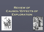 Review of Causes/Effects of Exploration