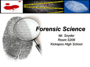 Forensic Science - Kickapoo High School