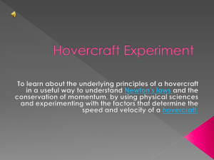 PowerPoint For Hovercraft Experiment