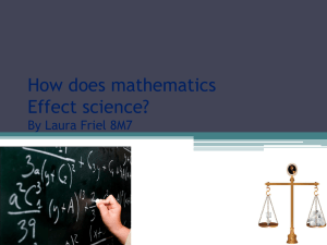 How does mathematics Affect science?