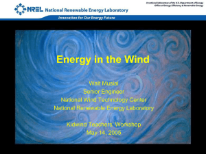 Walt Musial: Power in the Wind (National Wind Tech Center)