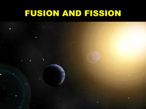 FUSION AND FISSION - Science Education at Jefferson Lab
