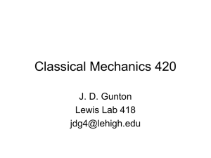 Classical Mechanics 420