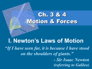 I. Newton's Laws of Motion - x10Hosting
