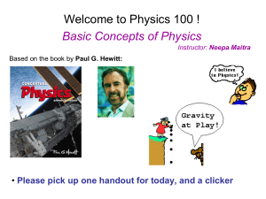 Welcome to Physics 101