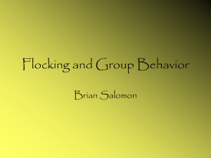 Flocking and Group Behavior