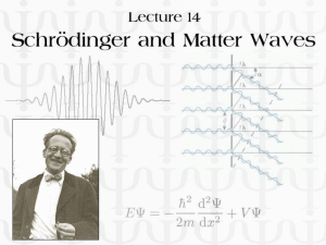 Schrödinger and Matter Waves