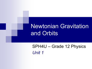 1.1 - Newtonian Gravitation and Orbits - K