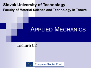 Materialy/01/Applied Mechanics-Lectures/Applied Mechanics