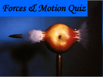 Forces Quiz Answer Key