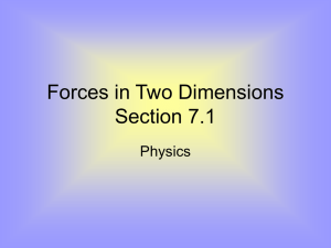 Forces in Two Dimensions Section 7.1