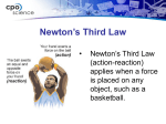 The Third Law: Action/Reaction