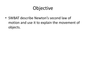 Newton`s Second Law 1 PPT
