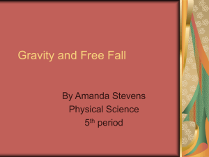 amanda`sGravity and Free Fall