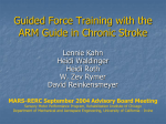 Adaptive Assistance for Guided Force Training in Chronic Stroke