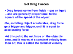 Dag Force and Terminal Speed