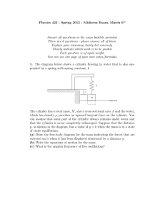 Physics 422 - Spring 2013 - Midterm Exam, March 6
