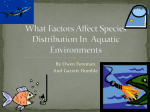 What Factors Affect Species Distribution In Aquatic