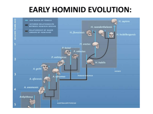 EARLY HOMININ EVOLUTION: