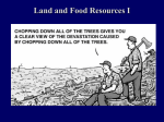 Land and Food Resources I - University of Evansville