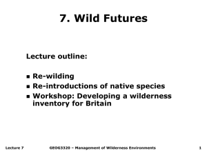 Lecture 2 Wilderness typology and characterisation