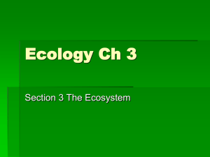 Ecology Ch 3