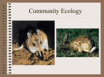 Community Ecology - University of Dayton