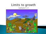 Limits to growth - Sonoma Valley High School