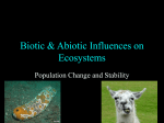Influences on Ecosystems