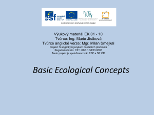 Basic Ecological Concepts