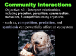 Community Interactions notes